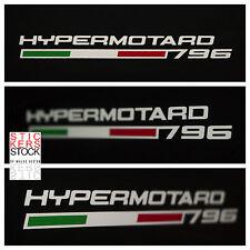 Adesivi Stickers Ducati Hypermotard 796 con tricolore Fianchetti Posteriori