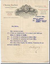 Letra - ROCA Hermanos a La lado st-André 1926 - carta firmada por La Sra. ROCHER