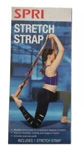 SPRI STRETCH STRAP AND EXERCISE GUIDE-Targets arms, legs, back and more