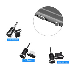 Metal Dust Plug Lightning Micro USB Type C Charging Port Earphone Jack Cover Pin