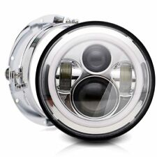 "7"" Chrome LED Headlight Light For Kawasaki VN Vulcan Classic Nomad Drifter 1500"