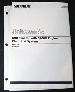 Caterpillar D9R Dozer Tractor 3408C Engine Electrical Schematic Manual ABK1 ACL1