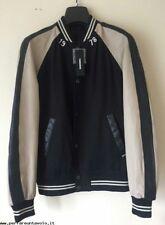 Mens Eddie Giacca Jacket by Diesel. Black Cream Leather sleeves Size XXL. 308566d7d856