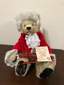 "Hermann Spielwaren Mozart Bear16""  Mohair Jointed Limited  # 223A/500 Germany WT"