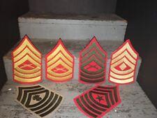 6 Vintage 1970s US MARINES USMC SNCO PATCHES