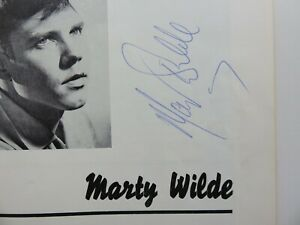 BILLY FURY 1963  BIG STAR SHOW SIGNED BY MARTY WILDE  DARYL QUIST DICKIE PRIDE
