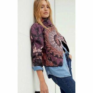 Free People Camilla Patchwork Jacket Size Small Boho Statement New Free P&P