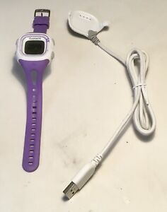 Garmin ForeRunner 10 Activity Tracker Watch White Case Purple Band GUC