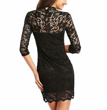 Lace V Neck Stretch, Bodycon Casual Dresses