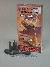 KNOX German Incense for Smoker Rauchermann Raucherkerzen Chocolate Scent 2 BOXES
