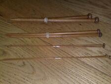 4 pairs of bamboo knitting needles