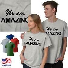 You Are Amazing Inspiring Motivational Gift Womens Short Sleeve Crewneck Tee