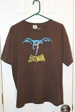 brown Batman vintage logo distressed t-shirt - adult extra-large / XL