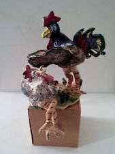 "Goldminc~ Chicken & Rooster ""Keep the Home Fires Burning""~ Blue Sky Votive"