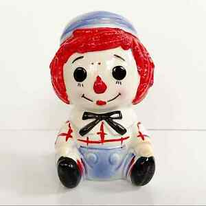 THE BOBBS-MERRILL CO Vintage 1976 Ceramic Andy Planter Vase Raggedy Ann & Andy
