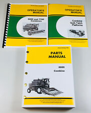 Operators Parts Manual For John Deere 6600 Combine Owners Maintenance Catalog