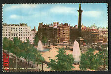Posted 1962 View of Buses & Trafalgar Square, London: 8d Stamp to USA