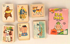 Lot Old Maid Snap Rummy Card Games Vtg Whitman Willie Mayrl Ed U Creative Child