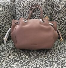 NWT Michael Kors Dalia Large Shoulder Tote Side Knot Gold Fawn Pink W/ Dust Bag