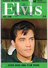 ELVIS 108 ANNEE 1969 (EN ANGLAIS) MYTHIQUE TRES RARE SUPERBES PHOTOS TBE