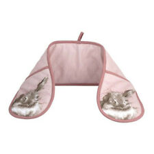 Portmeirion Pimpernel Wrendale Double Oven Gloves Pink Rabbit Bunny