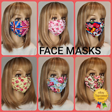 Adult Face Mask Face Covering Mouth Masks Washable Reusable Black UK