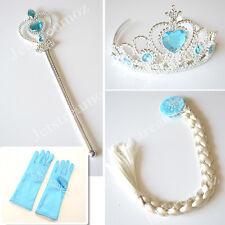 5pcs Disney Frozen Movie Queen Elsa Princess Crown Hair Piece Wand Set Christmas