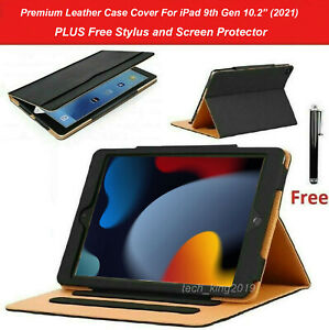 """For Apple iPad 9th Generation 10.2"""" (2021) Premium Protective Leather Case Cover"""