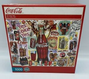 Coke 1000 Piece Puzzle Yes Coke Yes! Jigsaw Coca Cola Advertisement New in box