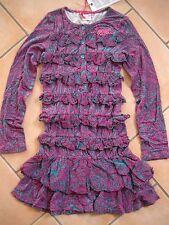 (C192) Nolita Pocket Girls Stretch Kleid mit Volants und Logo Stickerei gr.140