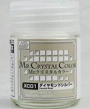 GSI CREOS GUNZE MR HOBBY Crystal Color XC01 Diamond Silver LACQUER PAINT 18ml