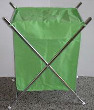 Wäschesammler verchromt faltbar mit Stoffsack grün Wäschebox Wäschekorb NEU&OVP