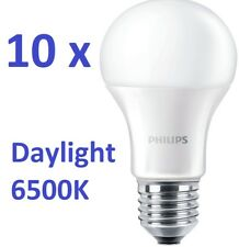 10 x Philips Lampada LED E27 LAMPADINA 12,5W=100W Bianco Luce da giorno 6500K