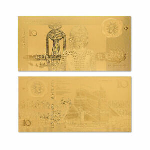 BANKNOTE AUD $10 AUSTRALIAN DOLLAR 1988 ND CONMEMORATIVE GOLD HIGH QUALITY MINT!