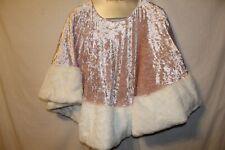 "berkshire opulence velvet faux fur trim christmas tree skirt nwt 56""  icy pink"