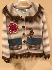 Little Mass Knitted girls cardigan Jacket Size 7; NWT