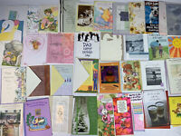 Huge HALLMARK Vintage Card Lot ~55 Cards From 1950 To Recent / Expressions Crown