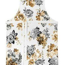 Michel Design Works Chef's Cotton Apron Gardenia Flowers & Hummingbirds