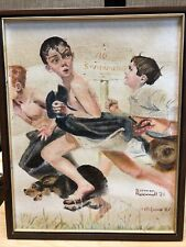 Norman Rockwell picture no swimming
