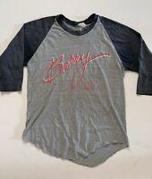 Vintage vtg 80s Barry Manilow raglan quarter sleeve baseball tee tshirt small