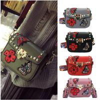 Women Studded Rivet Purse Bag Pu Leather Handbag Spike Shoulder Crossbody Bags