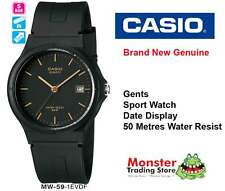 CASIO WATCH 50M WATER RESIST DATE MW59 MW-59-1EV 12-MONTH WARRANTY