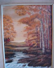 Aug 1980 Landscape Painting Where the River Flows by Marie Helen Chiasson N.S.