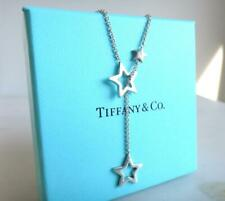Mint/ Tiffany & Co. Sterling Silver Star Lariat Pendant Necklace Used Japan 3