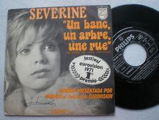 Séverine ein Banc ein Arbre SPAIN 45 1971 Eurovision Song Contest 71 Monaco