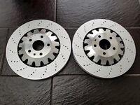 Pair of Genuine Audi TTRS Mk1 Front Brake Discs 370mm x 32mm - 8J0615301K