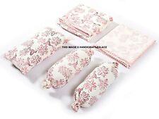 Hand Block Cotton Bedding Set Nursery Baby Quilt,Sheet,Pillows,Bolst er,Bedding