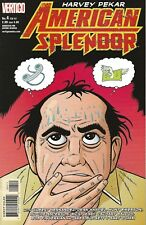 HARVEY PEKAR AMERICAN SPLENDOR #4 FEB 2007 VERTIGO WITH SIGNED CRUMB ART CARD