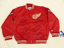 Neuf Detroit Rouge Ailes Starter Décontracté Bomber USA NHL Veste Vintage T:L