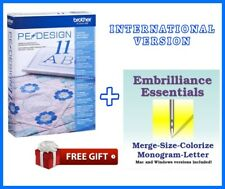 Brother PE Design 11 Sewing Software Embroidery ⭐ 1 Year Warranty ⭐ Full Version